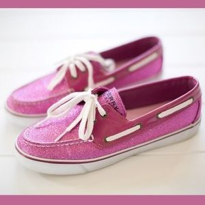 Pink Glitter Sperry Topsiders